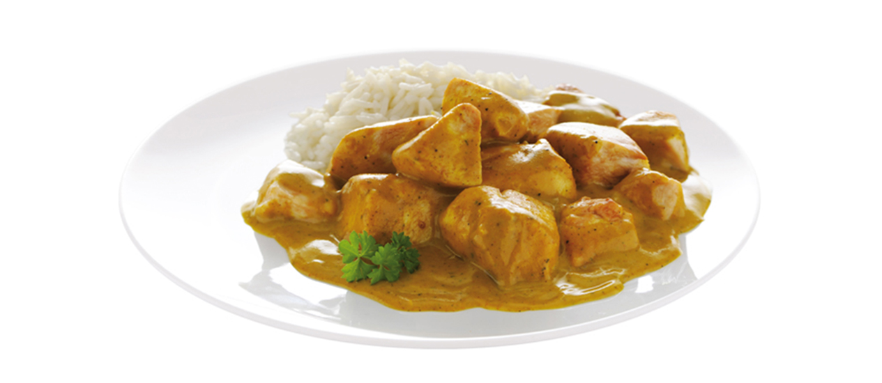Pollo al curry-cannamela